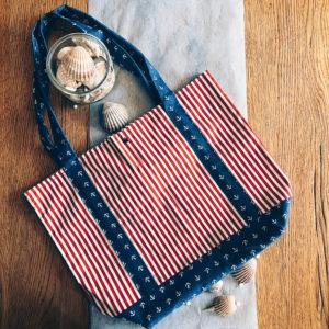 sac plage, sac courses, tote bag