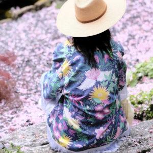 Kimono, lotus, creationtextile, ecoresponsable, biologique